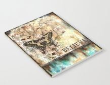 "Notebook ""Believe"" butterfly and flowers"