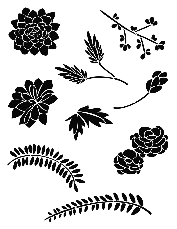 Bouquet of Flowers 2 Stencil