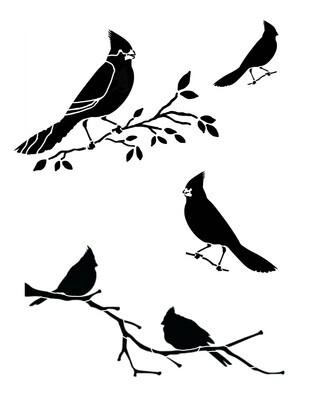 Cardinals Stencil