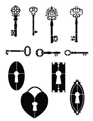 Keys Stencil