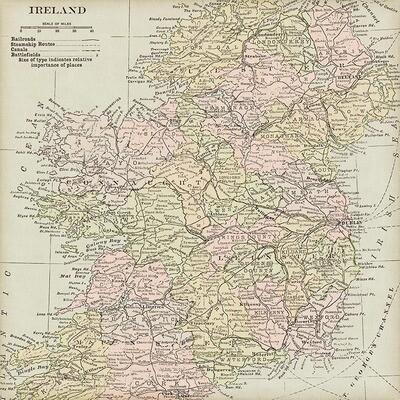 Vintage maps collage pak ***PRINTED VERSION***