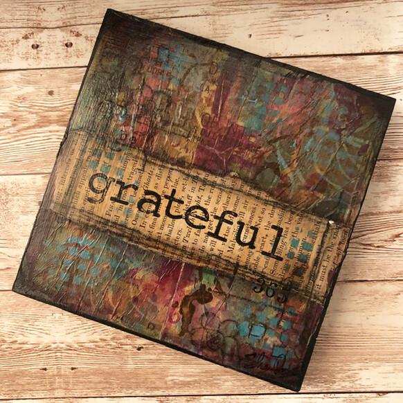 """""""Grateful"""" 6x6 Clearance Original"""