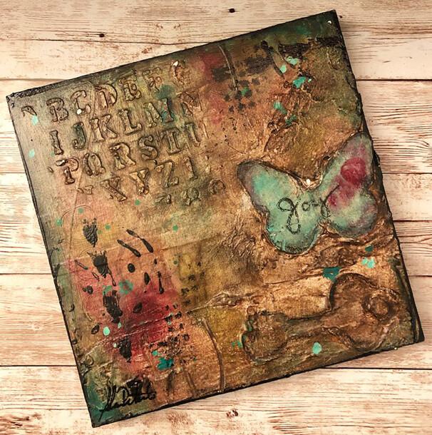 """Joy Butterfly"" 6x6 Clearance Original"