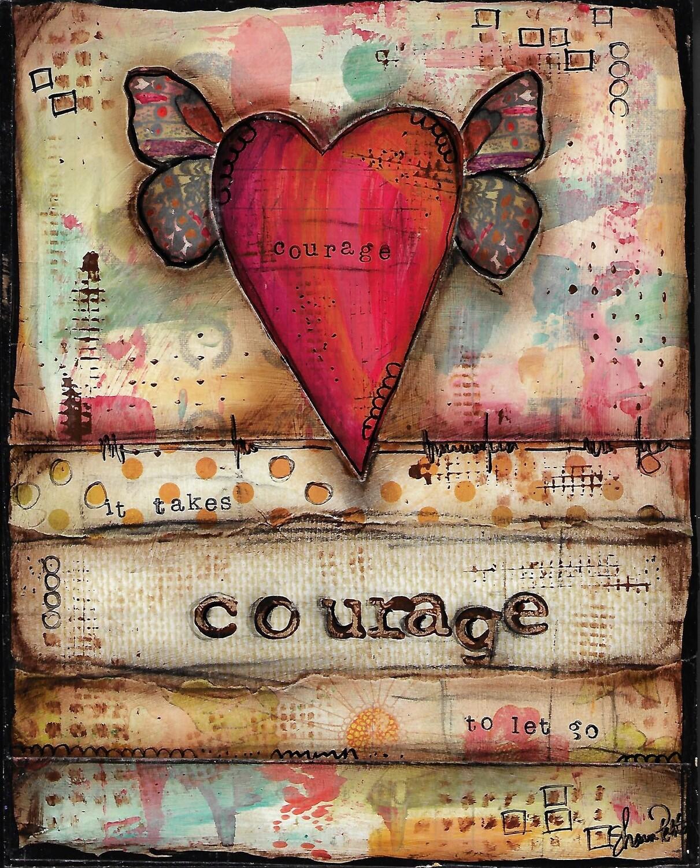 """Courage"" 8x10 mixed media original"