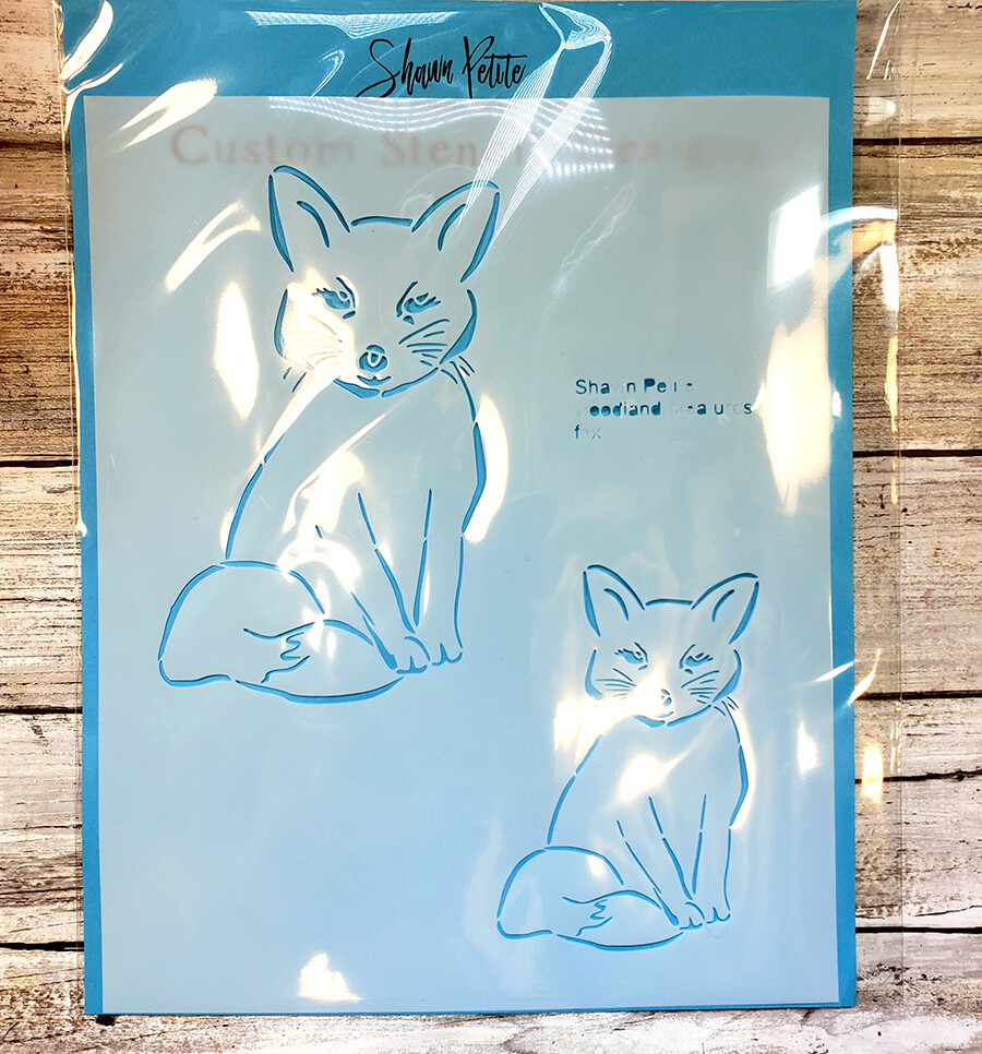 fox stencils available wed. aug. 14th