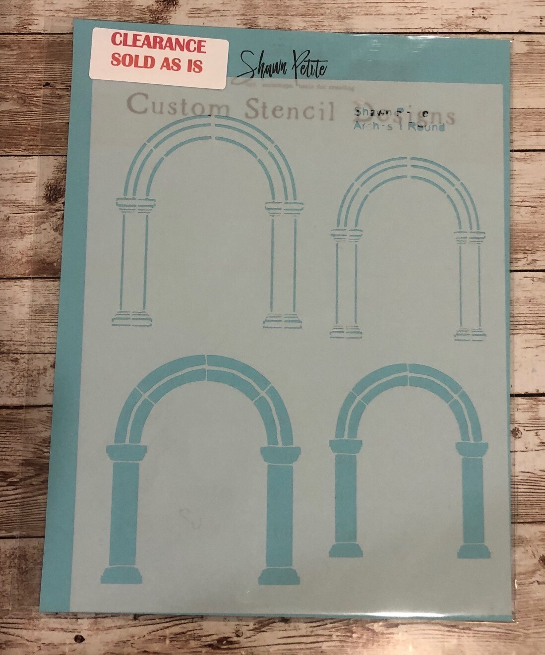 Arches 1 round stencil clearance