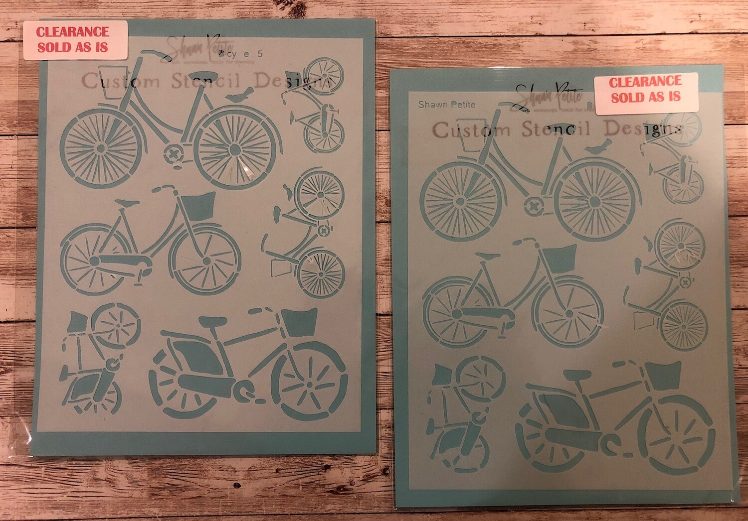 Bicycle 55 stencil clearance