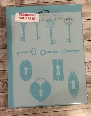 Keys stencil clearance