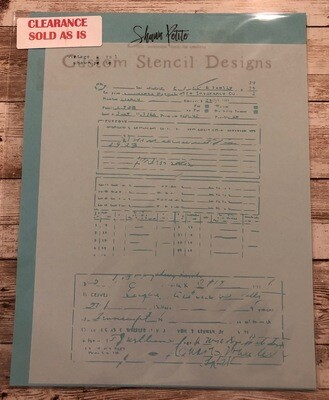 Vintage Papers 1 stencil clearance