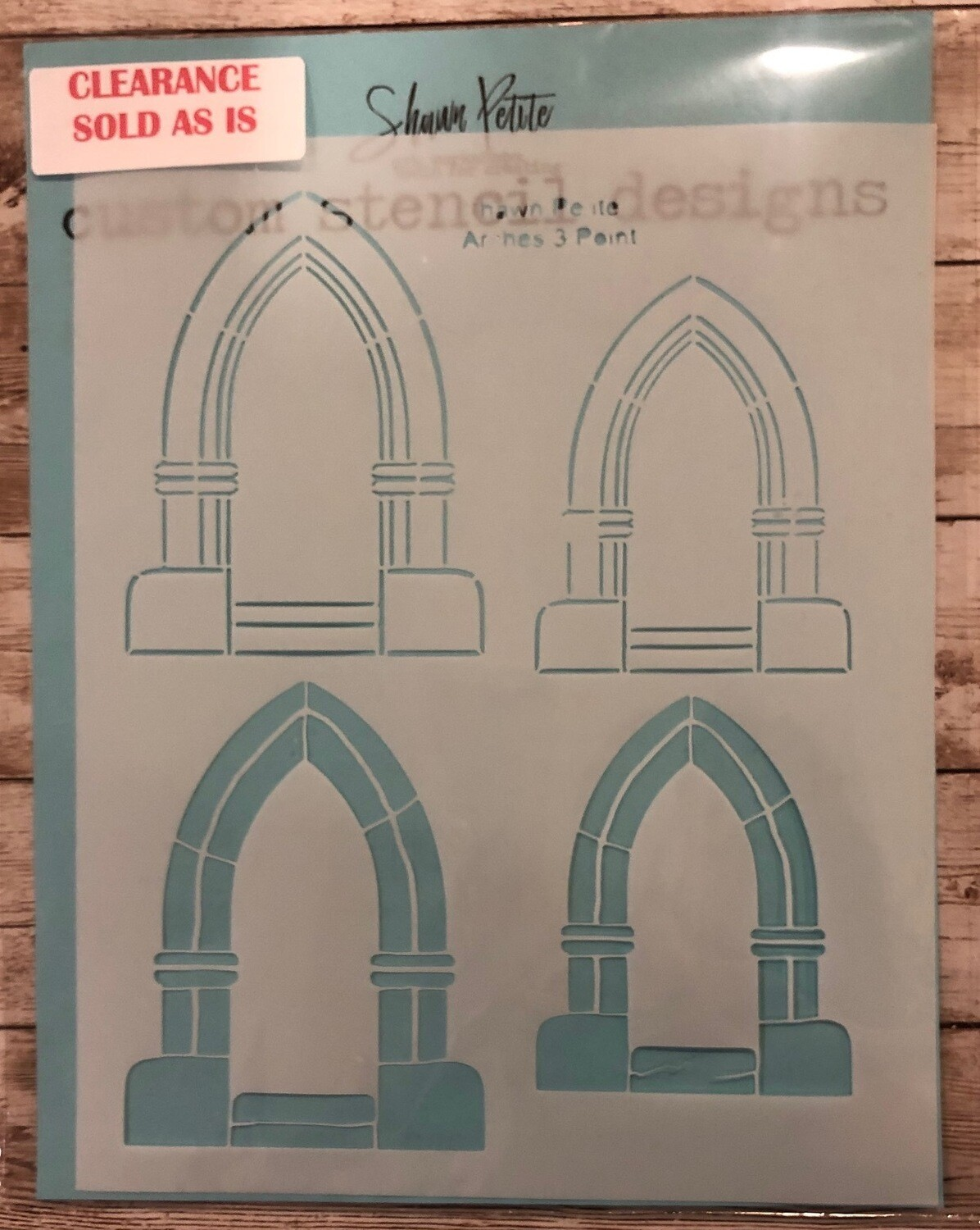 Arches 3 point stencil clearance
