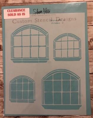 Windows 2 stencil clearance