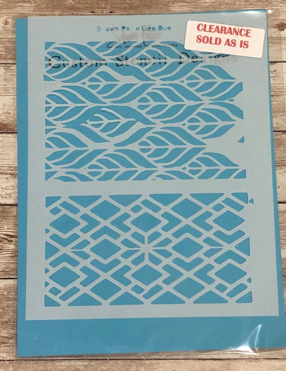Geo Duo stencil clearance