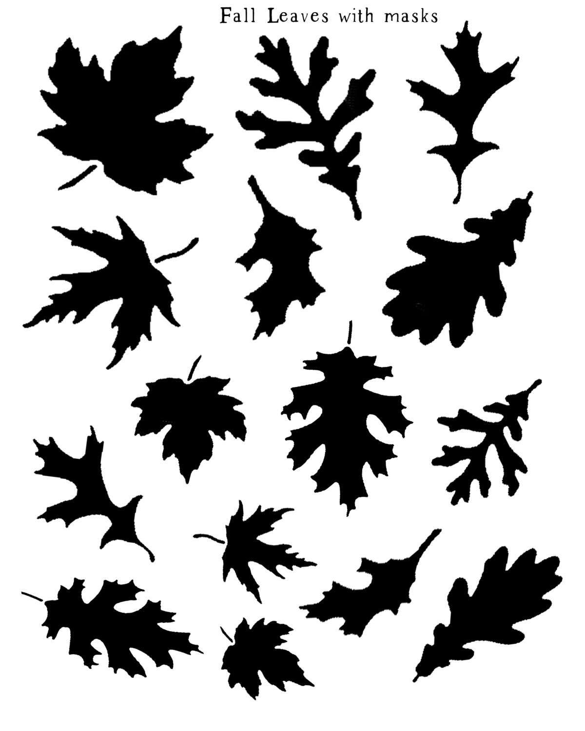 Fall Leaves with masks stencil