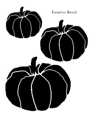 Pumpkins Round stencil
