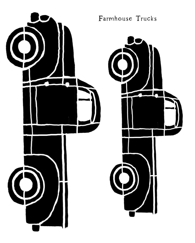Farmhouse Trucks stencil