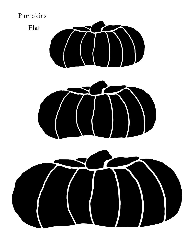Pumpkins Flat stencil