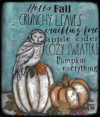 fall words with owl