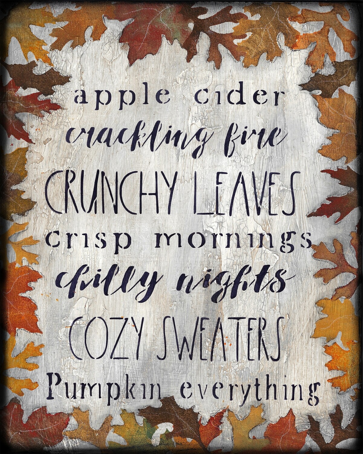 fall words with leaves