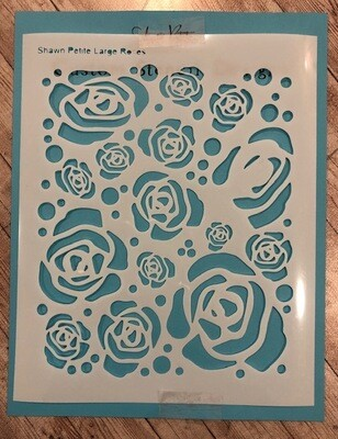 Large Roses stencil clearance