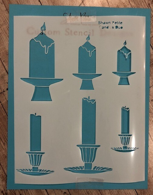 Candles Duo stencil clearance