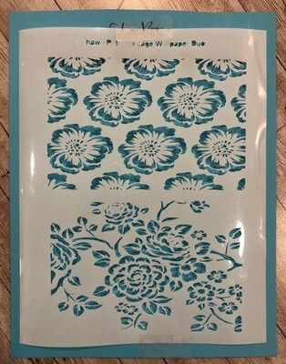 Vintage wallpaper duo stencil clearance