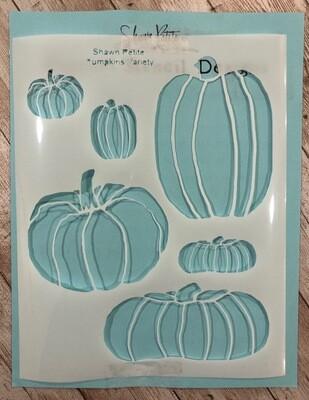 Pumpkin Variety stencil clearance