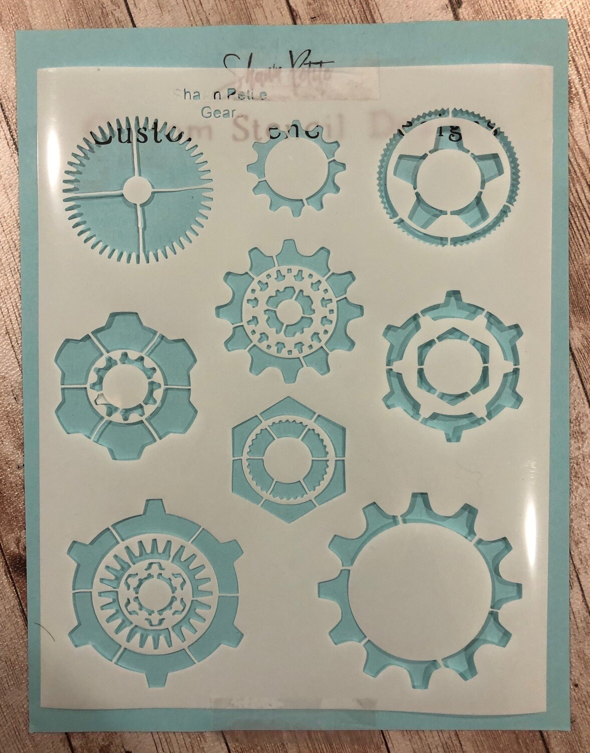 Gears stencil clearance