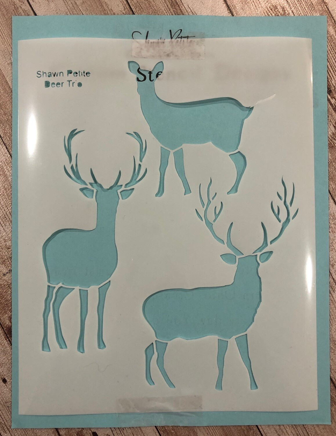 Deer Trio stencil clearance