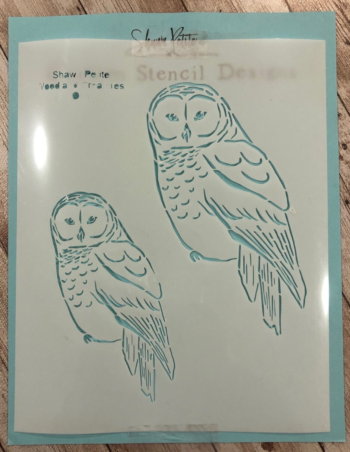 Woodland Creatures Owl stencil clearance