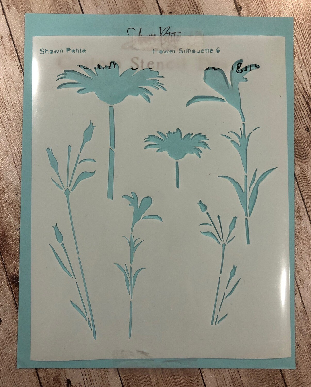 Flower Silhouette 6 stencil clearance