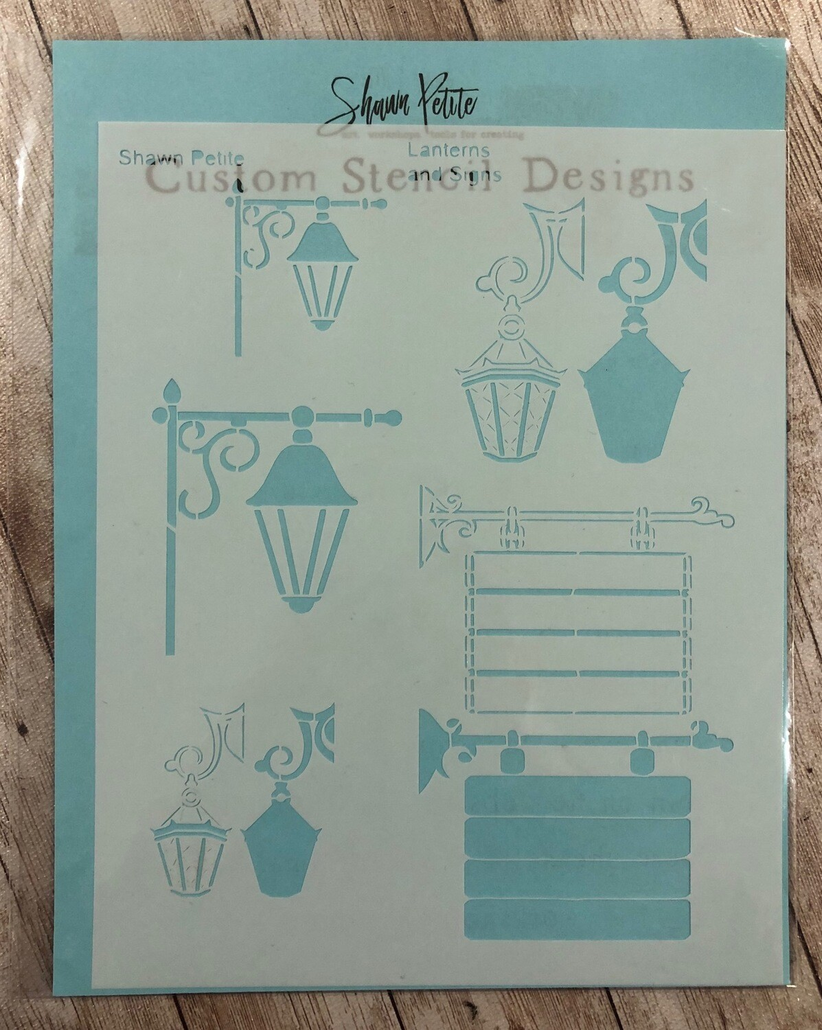 Lanterns and Signs stencil clearance