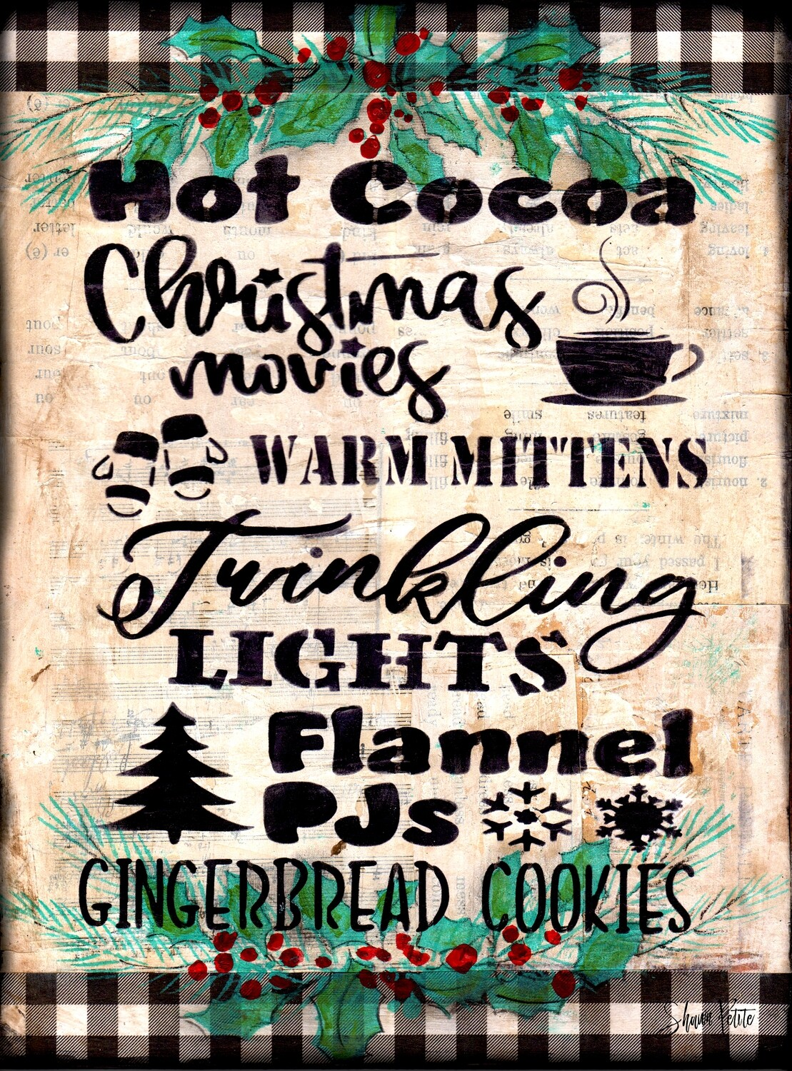 """""""Hot Cocoa"""" Print on Wood and Print to be Framed"""