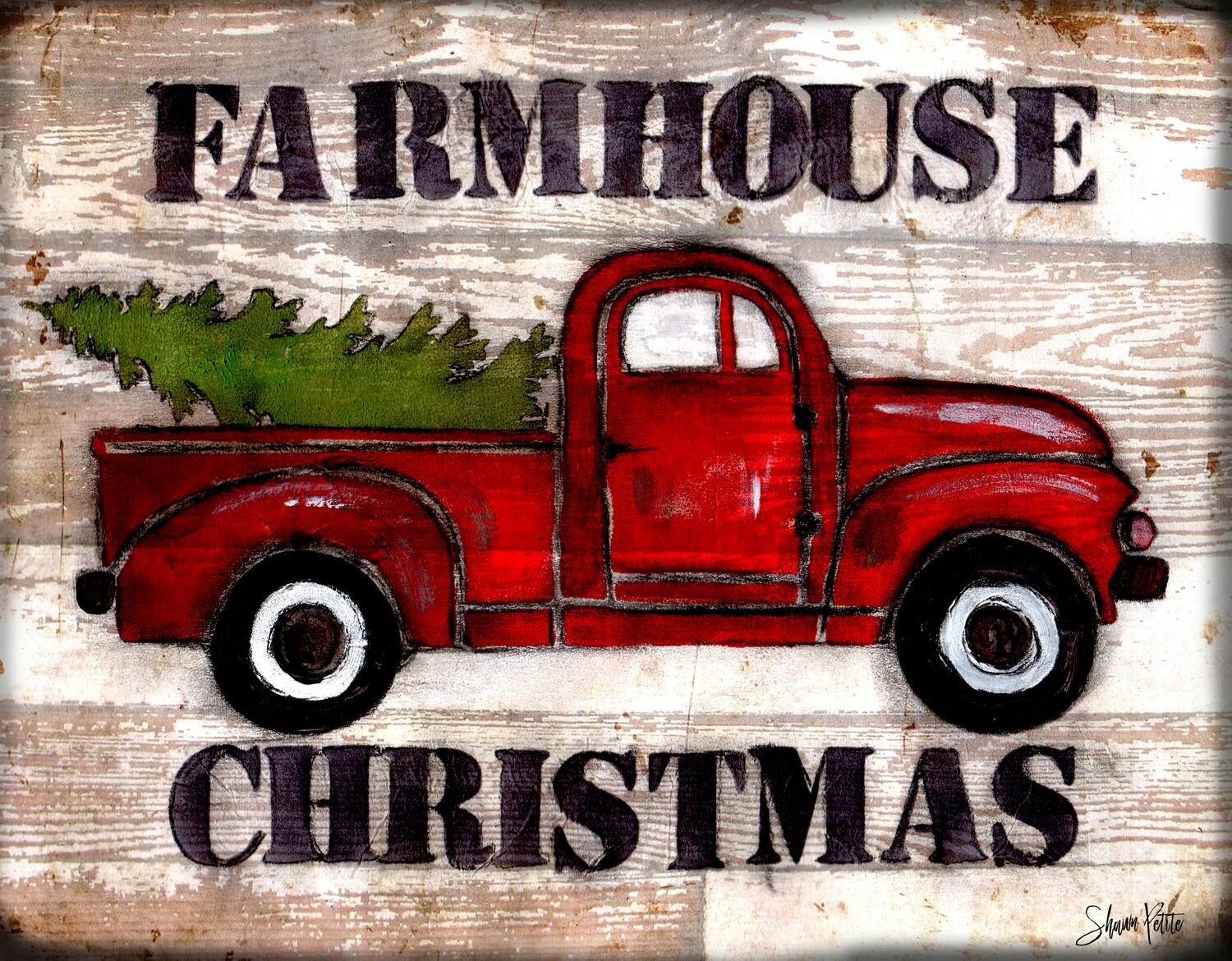 """Farmhouse Christmas"" Truck"