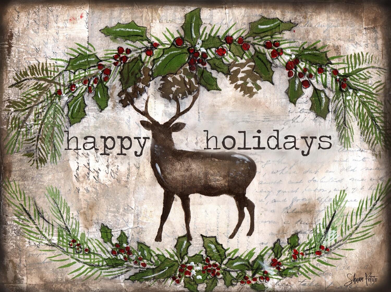 """Happy Holiday"" Deer"