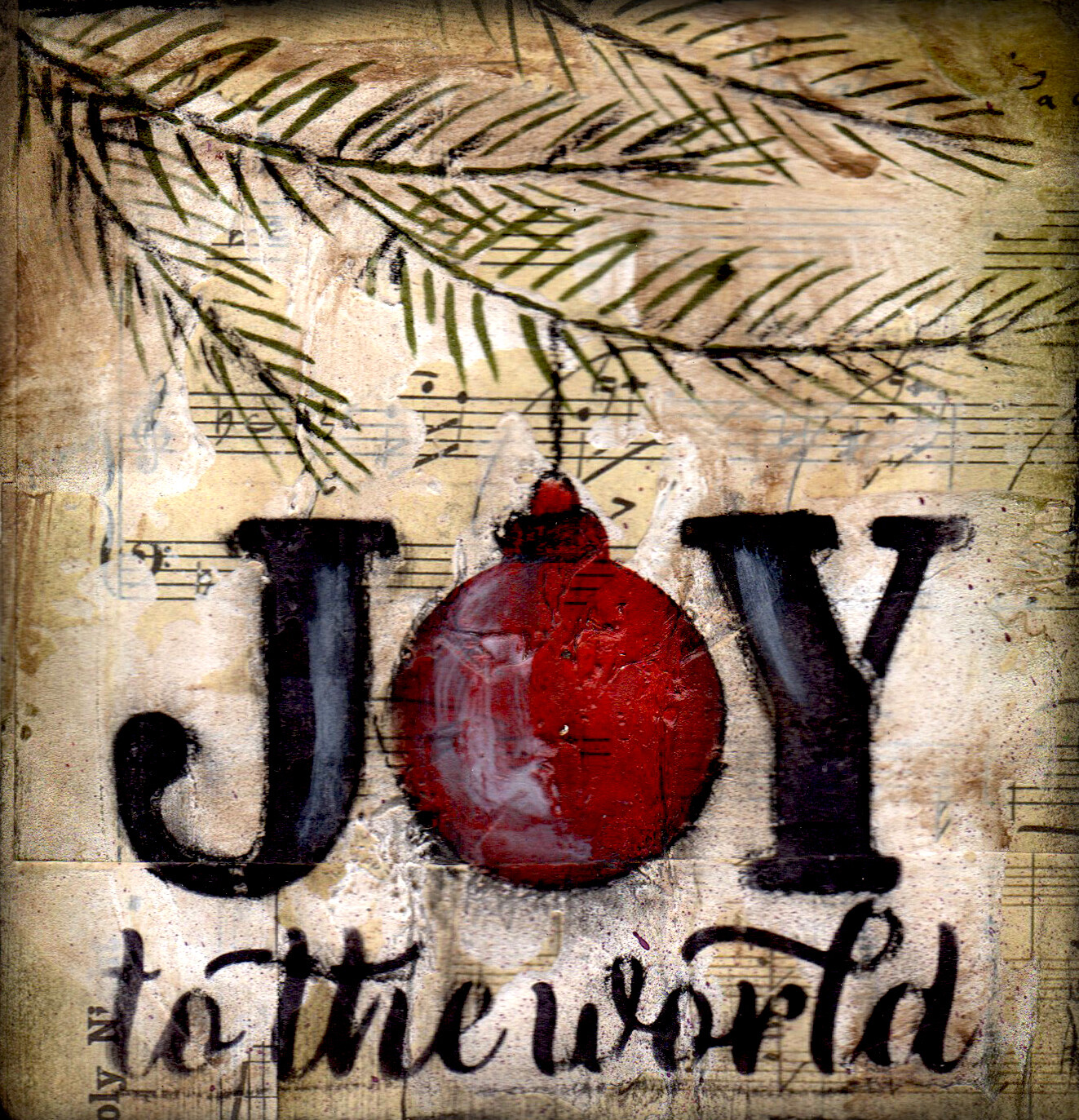 """Joy to the World"" tree branch"