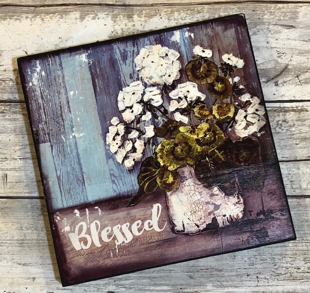 """Blessed"" 6x6 Clearance"