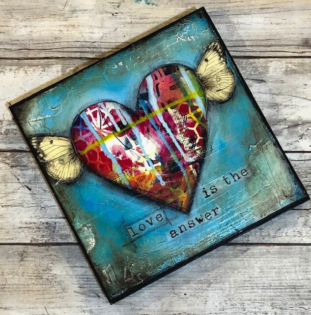 """Love is the answer"" 6x6 Clearance"