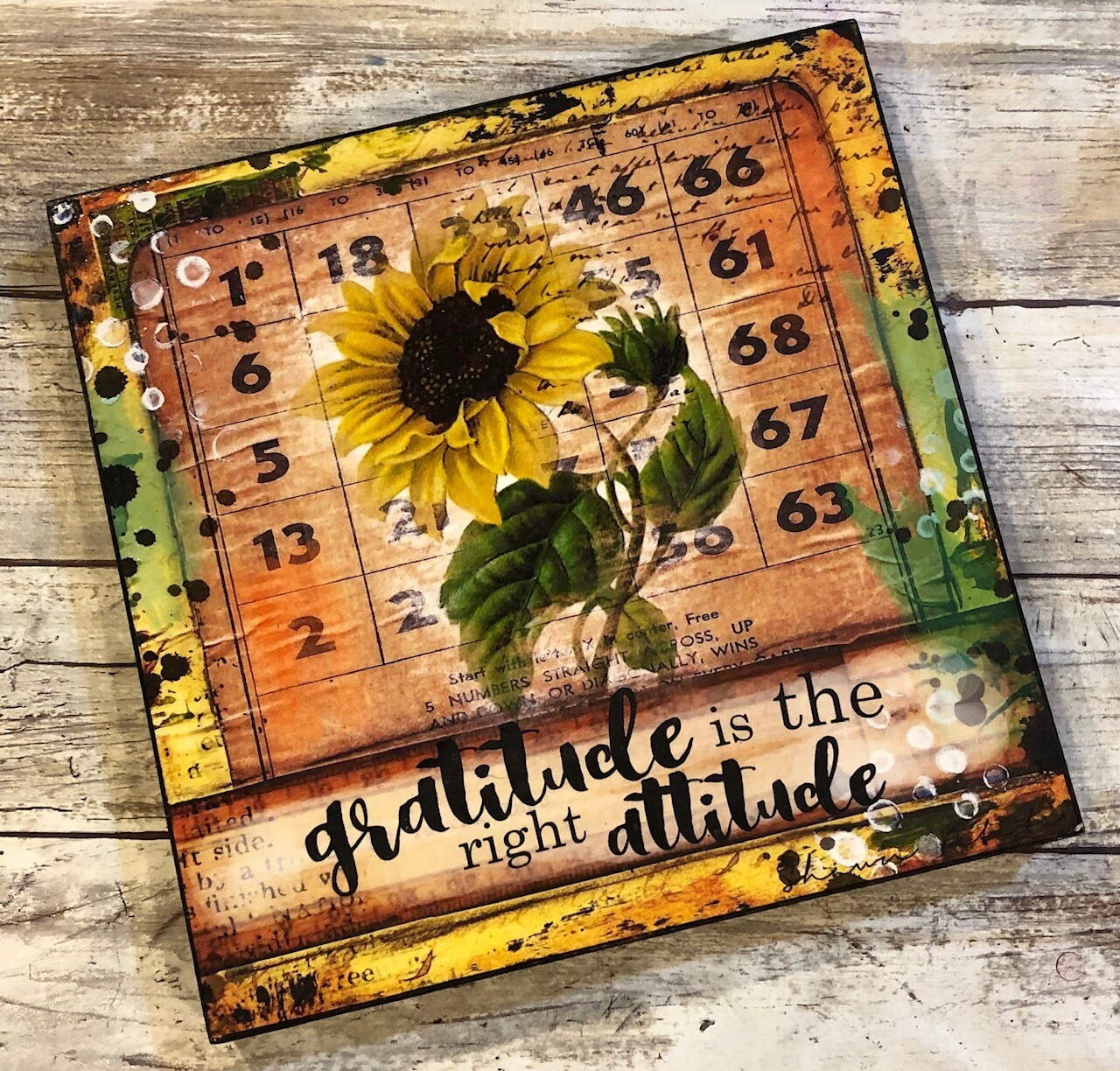 """Gratitude is the right attitude"" 8x8 Clearance"