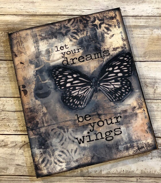 """""""Let your dreams be your wings"""" 8x10 print on wood Clearance"""