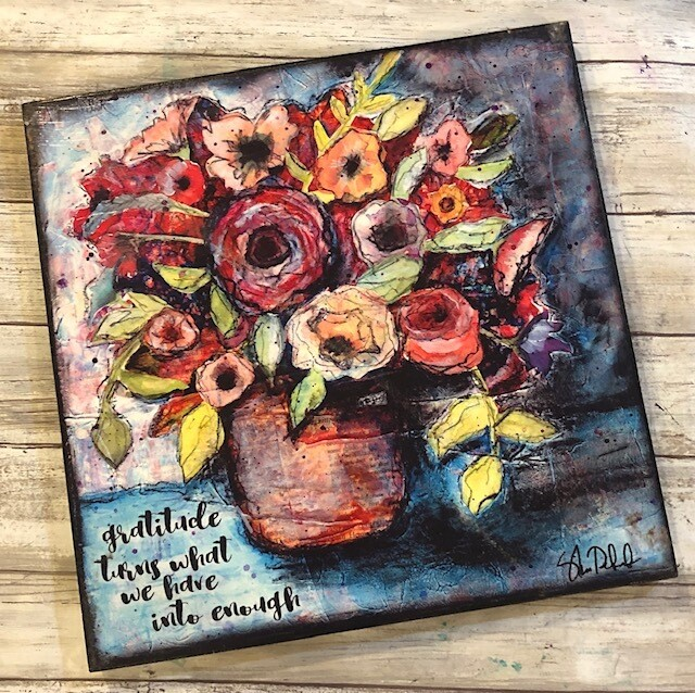 """""""Gratitude turns what we have into enough"""" 12x12 clearance"""