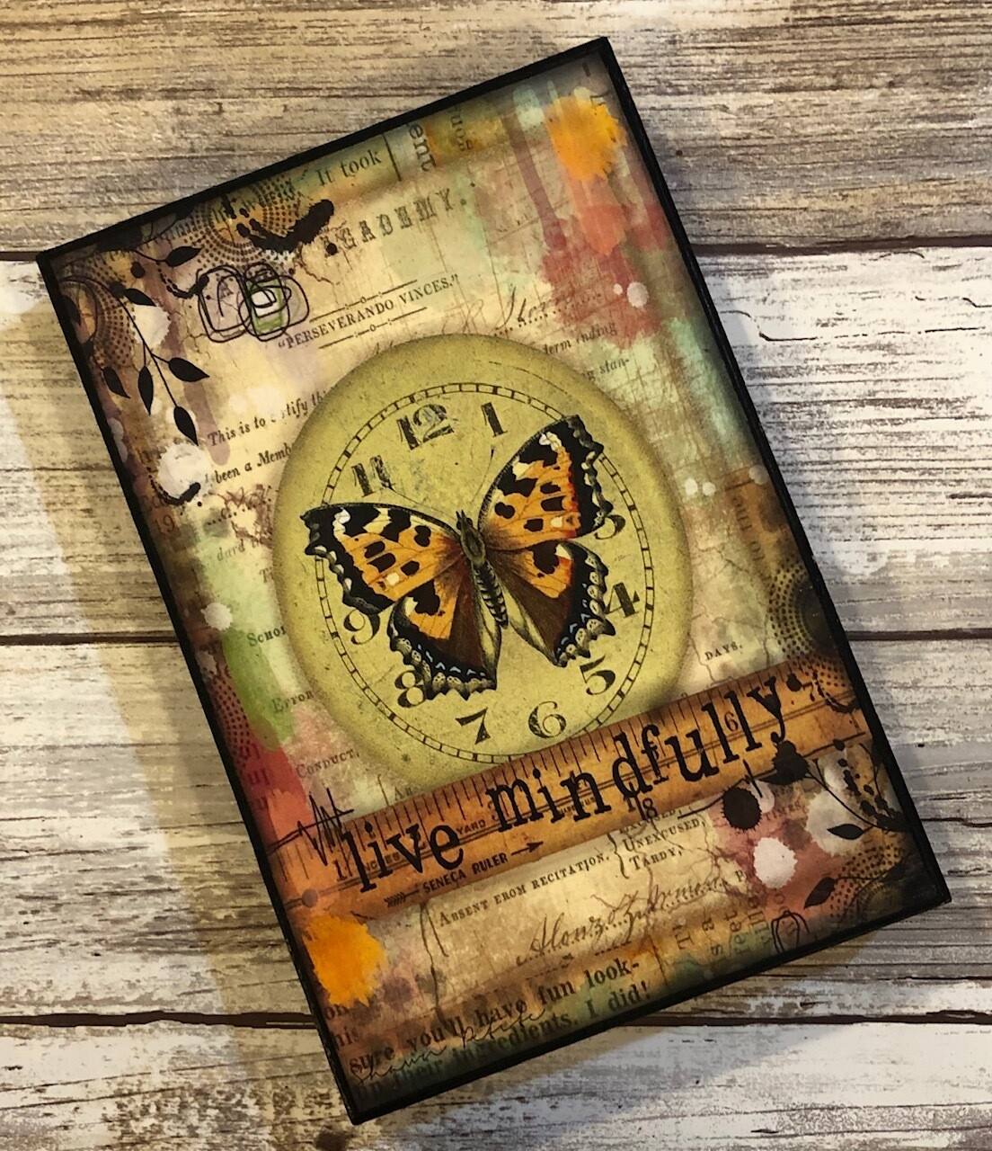"""""""Live Mindfully"""" butterfly 4x6 Clearance"""