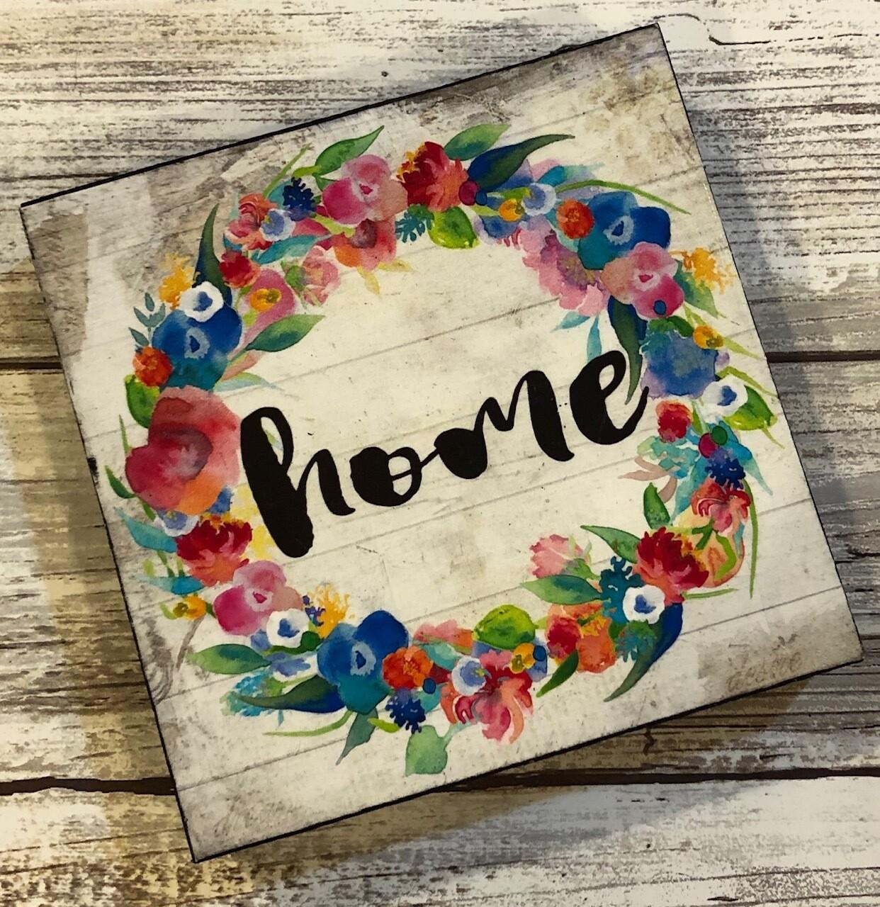 """Home Wreath"" bright 4x4 Clearance"
