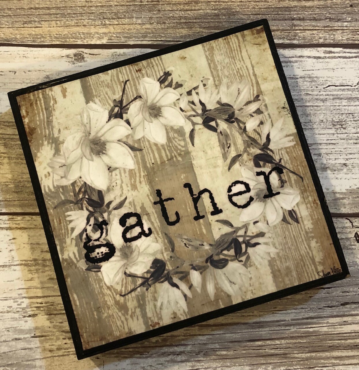 """Gather"" wreath 4x4 Clearance"