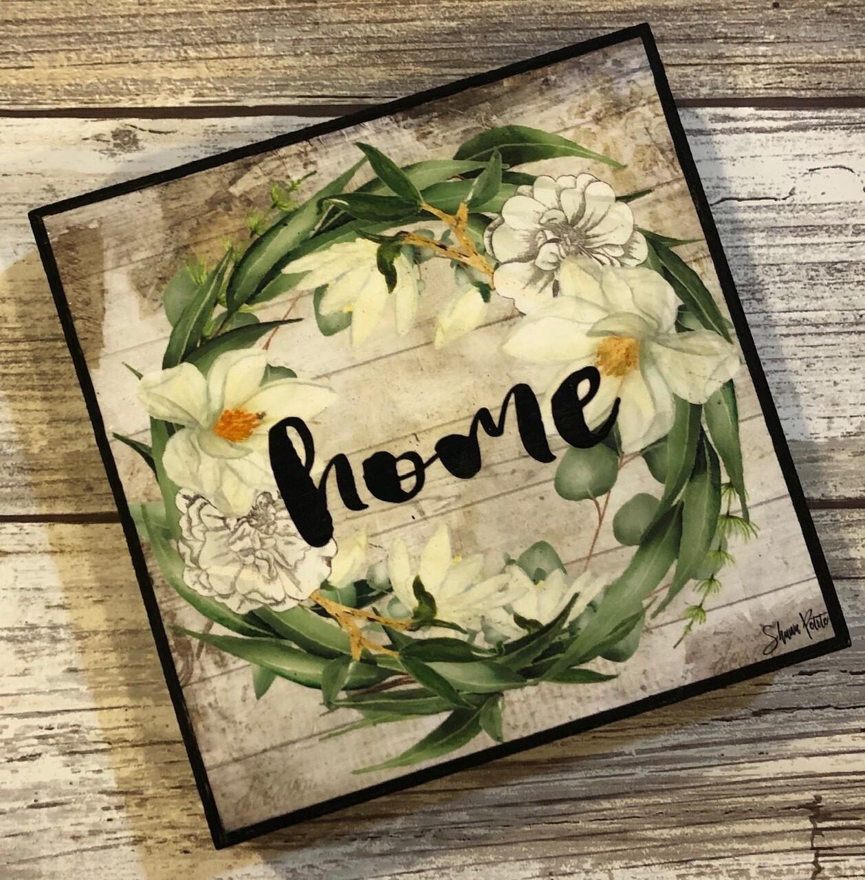 """""""Home wreath""""eucalyptus 4x4 clearance"""