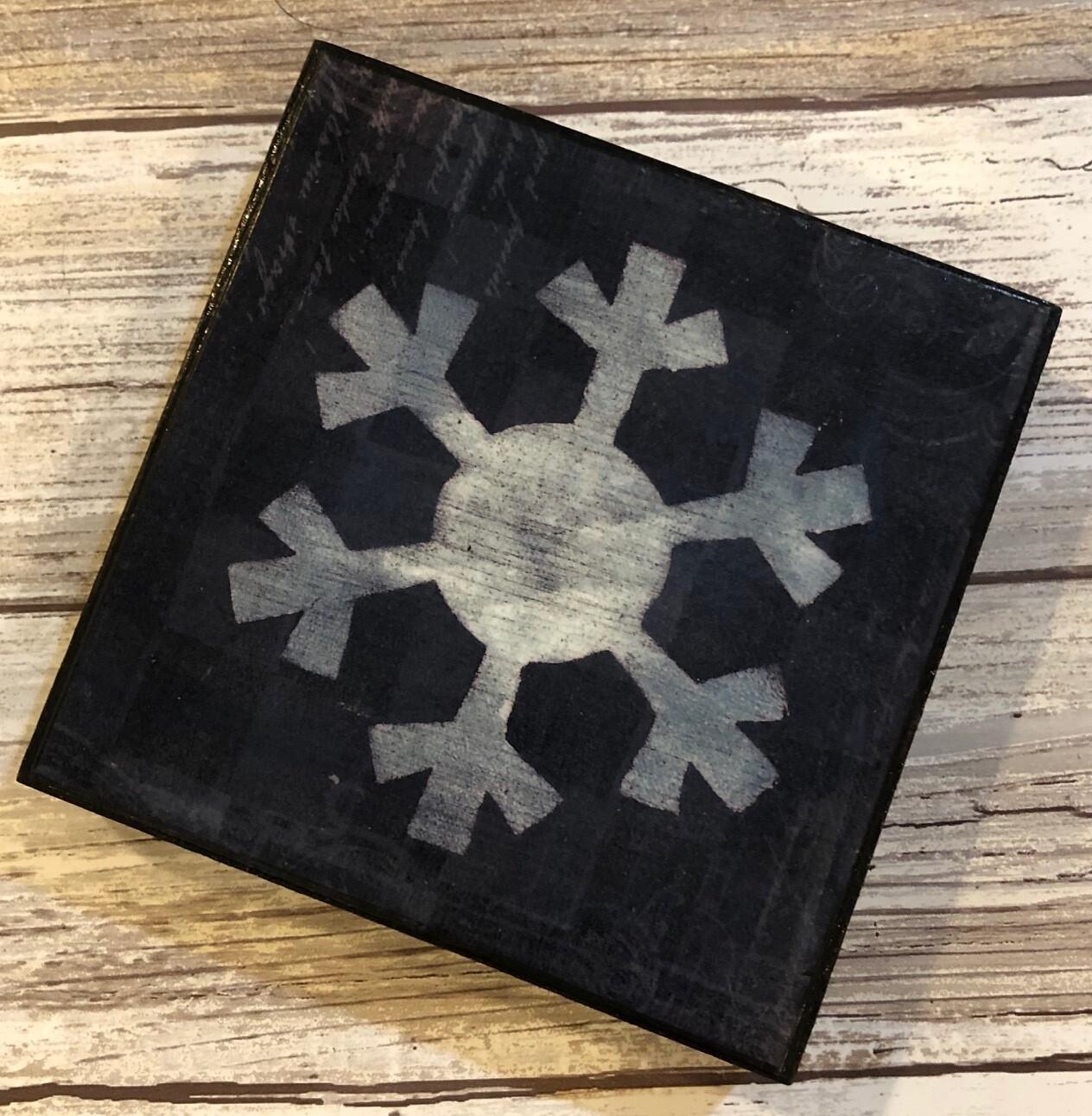 """Snowflake"" writing 4x4 clearance"