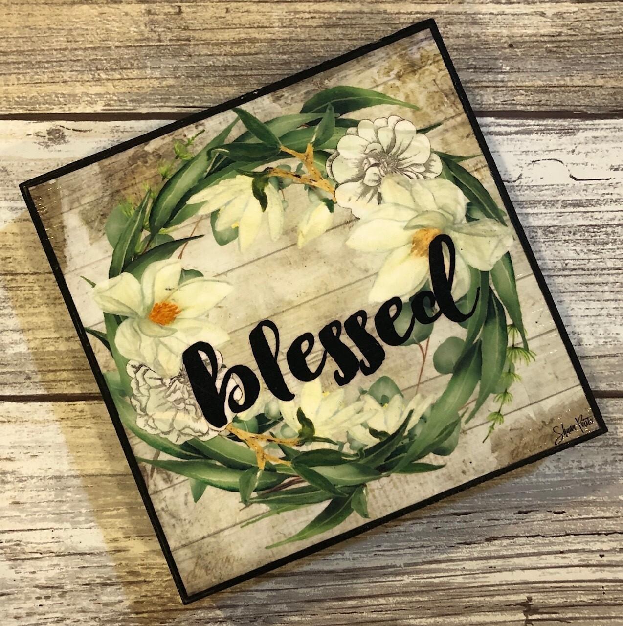 """""""Blessed wreath""""eucalyptus 4x4 clearance"""