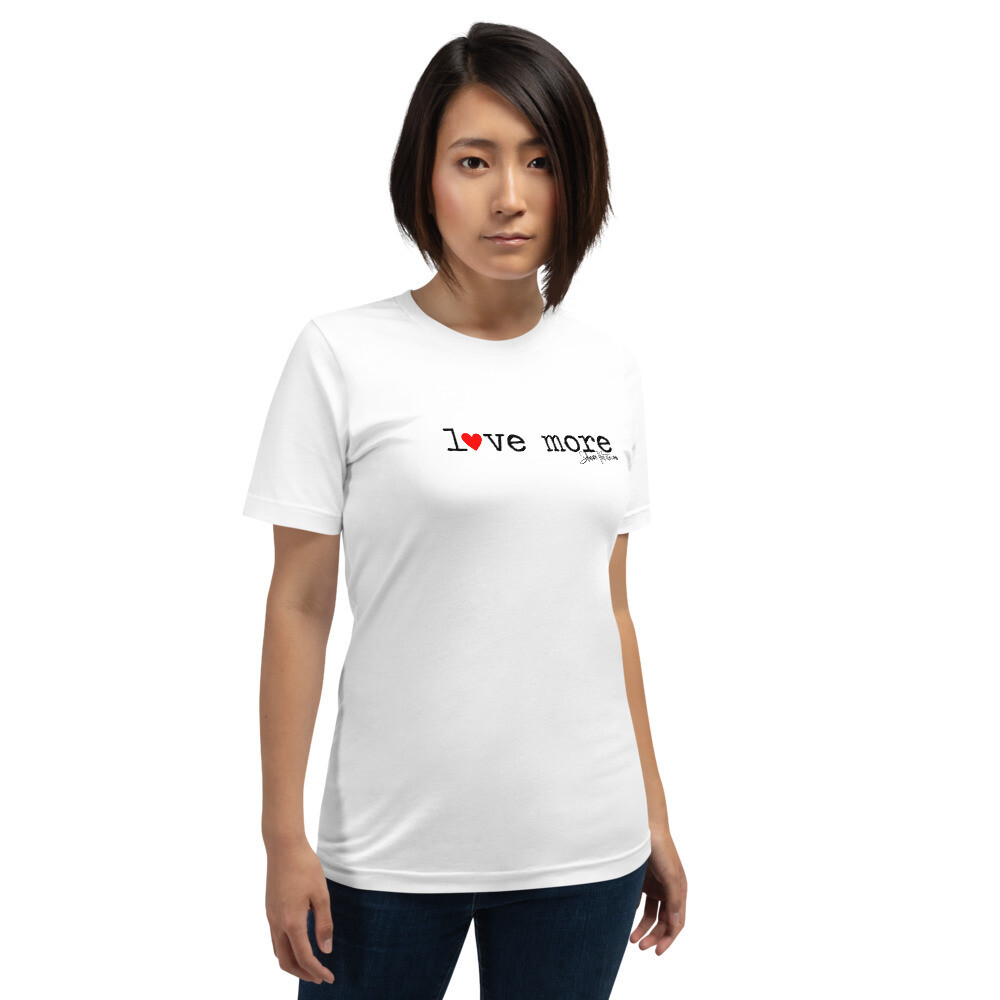 """Love More"" Red Heart Short-Sleeve T-Shirt"