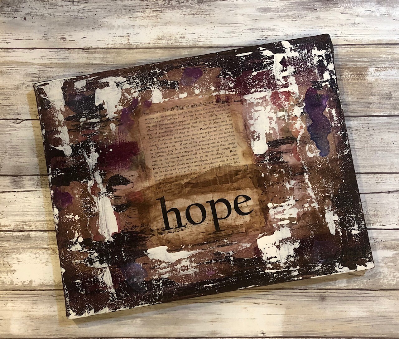 """Hope"" 11x14 canvas Clearance"
