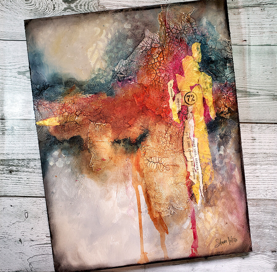 Power to choose 11x14 mixed media abstract original