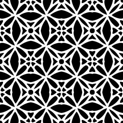 Modern Pattern 3 6x6 stencil